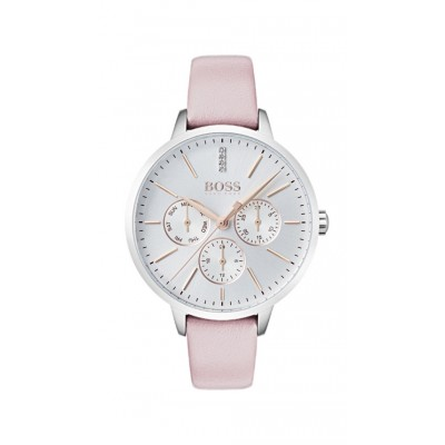 SYMPHONY PINK LEATHER STRAP CHRONOGRAPH