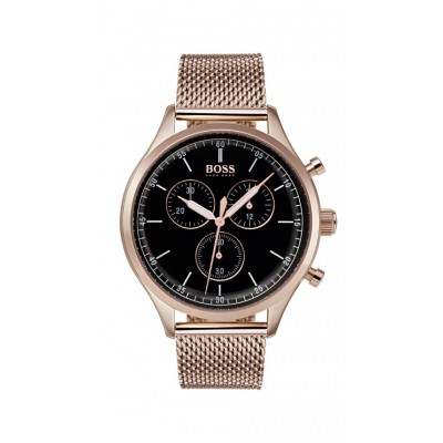 COMPANION BLACK DIAL ROSE GOLD BRACELET