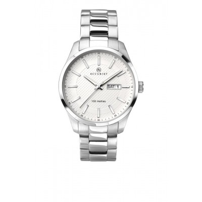 WHITE DIAL STAINLESS STEEL WR 100