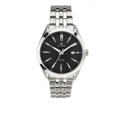 BLACK DIAL STAINLESS STEEL
