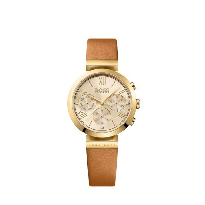 CLASSIC WOMEN SPORT BROWN LEATHER STRAP