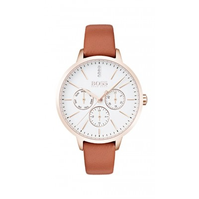 SYMPHONY BROWN LEATHER STRAP CHRONOGRAPH