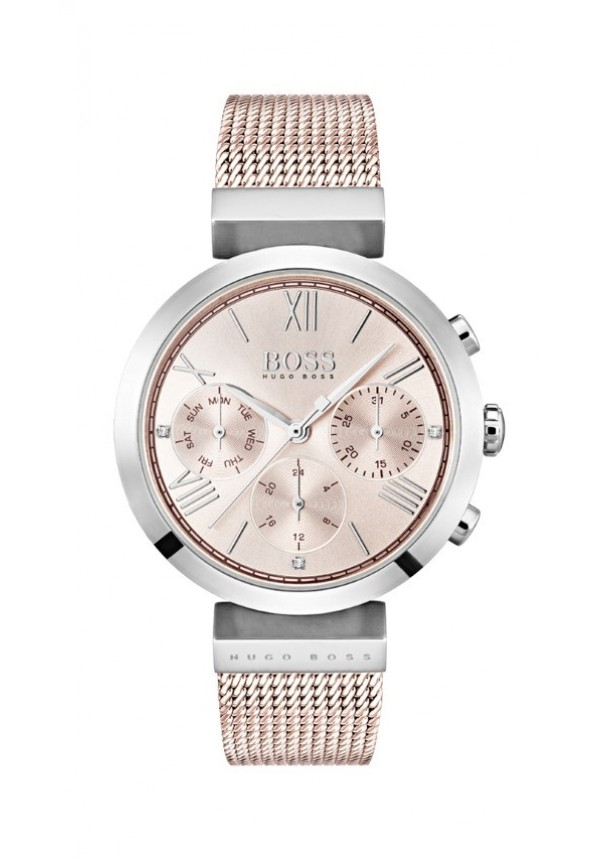 9f8b3c6bee7a5 CLASSIC WOMEN SPORT ROSE GOLD PLATED STAINLESS STEEL MESH BRACELET