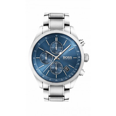 GRAND PRIX BLUE DIAL STAINLESS STEEL BRACELET CHRONOGRAPH