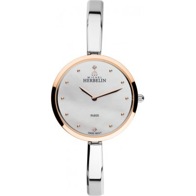 TWO TONE SCANDINAVE LADIES BANGLE WATCH