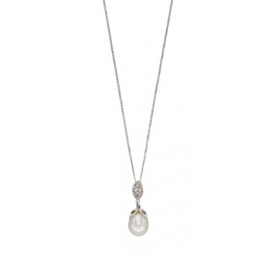 FANCY PEARL AND DIAMOND PENDANT