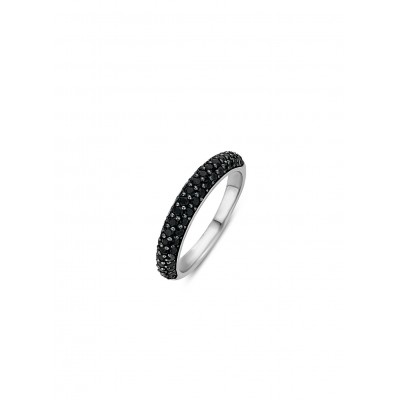 PAVE SET BLACK CRYSTAL RING