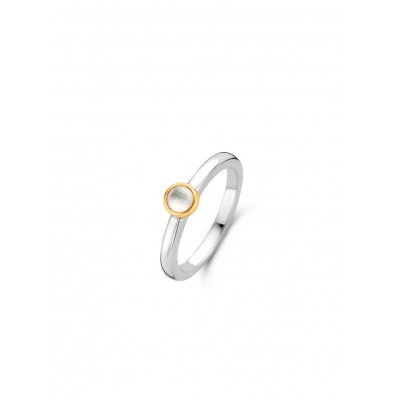 MOTHER OF PEARL GOLD PLATED RING