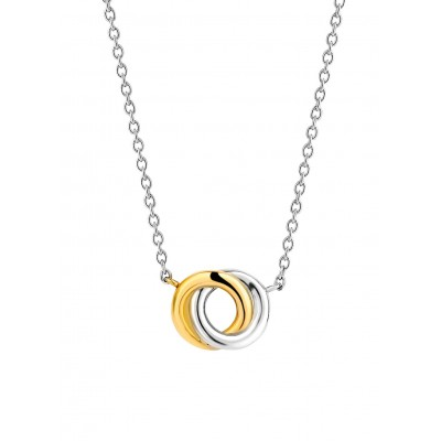 INTERLOCKING CIRCLES GOLD PLATED PENDANT