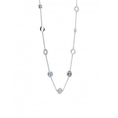 BLUE AND GREY MULTI STONE NECKLACE