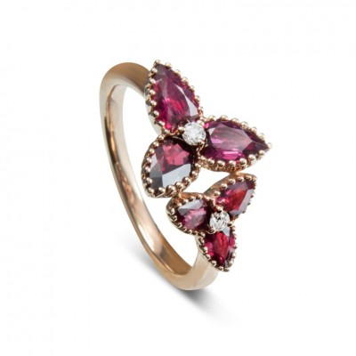 TREFOIL RUBY RING