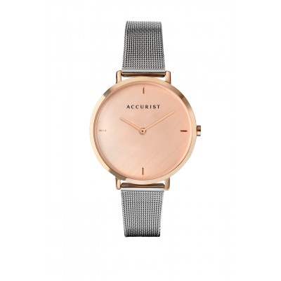 BLUSH PINK MILANESE WATCH