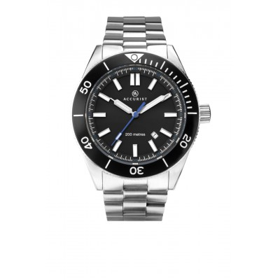 BLACK DIAL SIGNATURE DIVERS WATCH