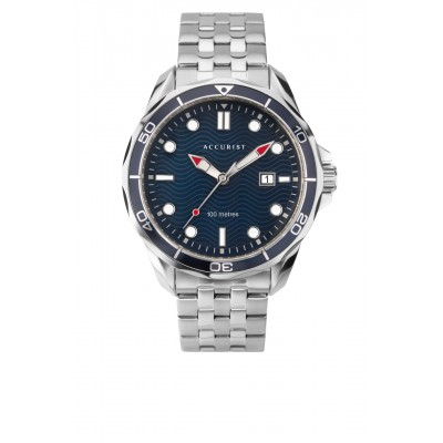 BLUE WAVE DIAL SPORTS WATCH