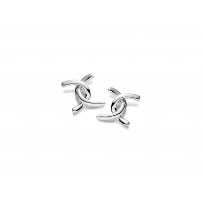 ENTWINED WHITE GOLD STUD EARRINGS