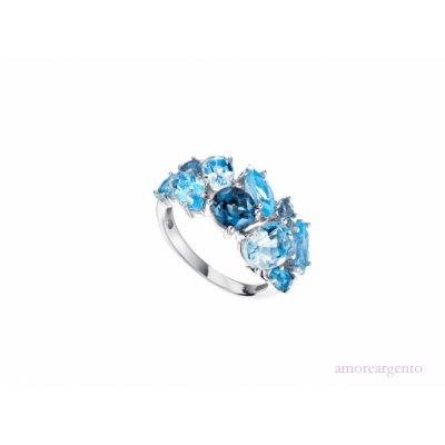 BLUE BOMB COCKTAIL RING