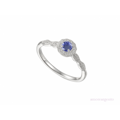 COOL BLUE TANZANITE RING