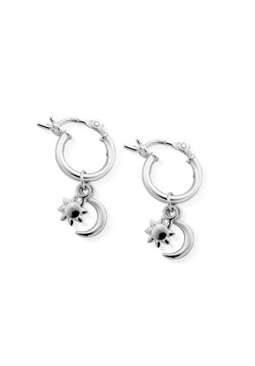 DAINTY MOON & SUN HOOPS