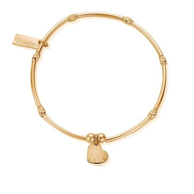 GOLD PLATED LOVE HEART BRACELET