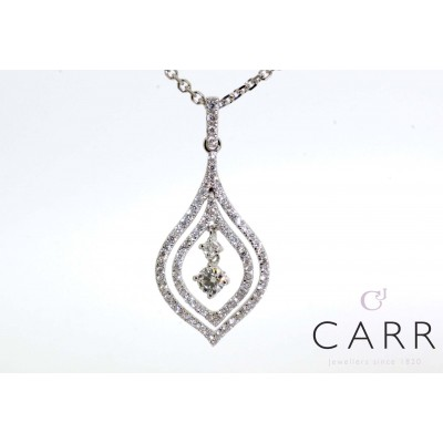 FLOATING FANCY DIAMOND PENDANT