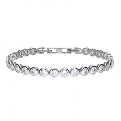7CT BEZEL SET CZ TENNIS BRACELET
