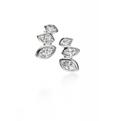 3 MARQUISE CZ STUD EARRINGS