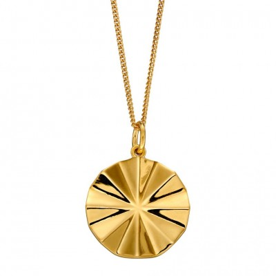 DIAMOND CUT BEVELLED GOLD PLATED NECKLACE
