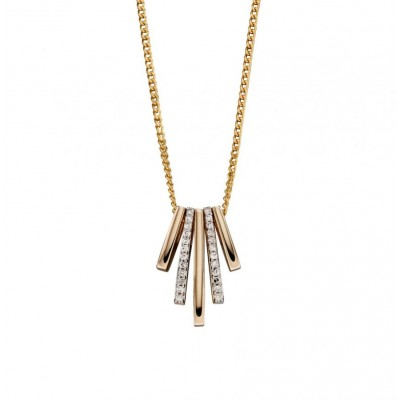 GEOMETRIC DIAMOND STICK NECKLACE