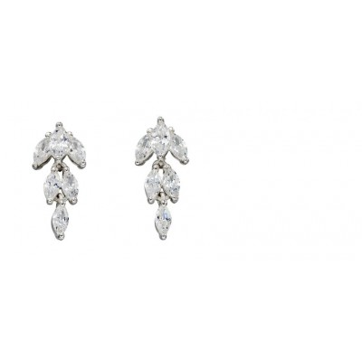 CZ MARQUISE DROP EARRINGS