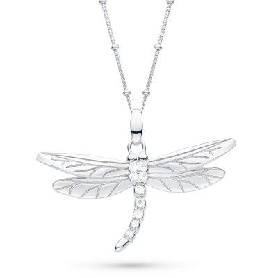 BLOSSOM FLYTE DRAGONFLY WHITE TOPAZ NECKLACE