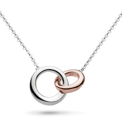 BEVEL CIRQUE LINK ROSE GOLD PLATE NECKLACE
