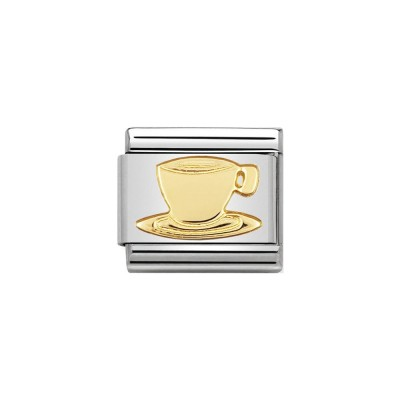 GOLD COFFEE CUP CHARM