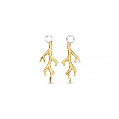 GOLD PLATE CORAL EARRING CHARMS