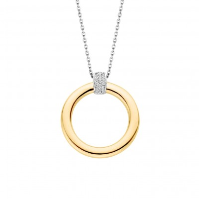 GOLD PLATE CZ PAVE BAND NECKLACE