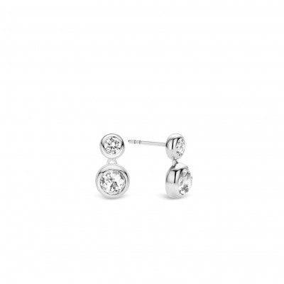 DOUBLE DROP CZ EARRINGS