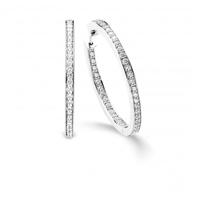 CZ LARGE HOOPS