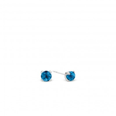 DARK BLUE STONE STUD EARRINGS