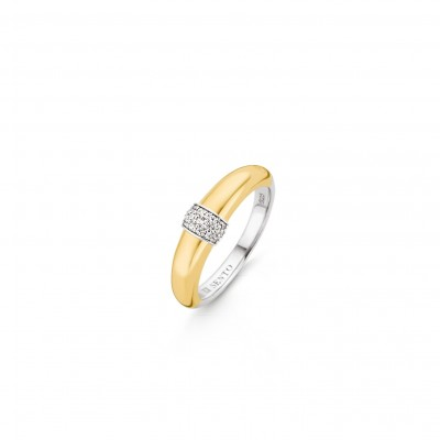 GOLD PLATE CZ PAVE BAND RING
