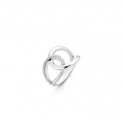 CZ INTERLOCKING RING