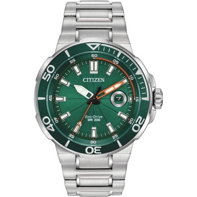 GREEN DIAL SPORTS WATCH