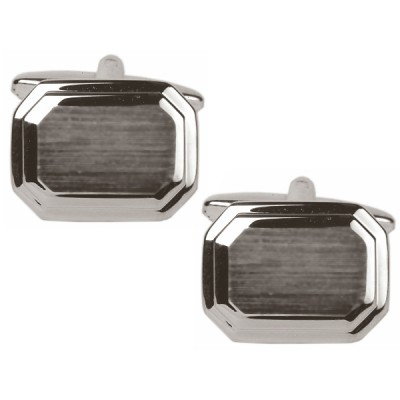 STAINLESS STEEL BRUSHED CUFFLINKS