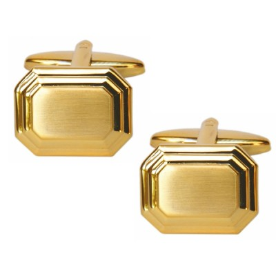 BRUSHED GOLD COLOUR CUFFLINKS