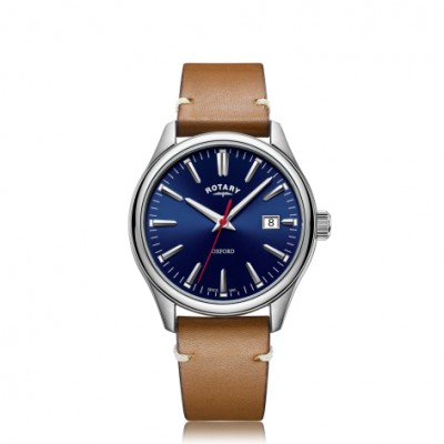 OXFORD BLUE DIAL BROWN LEATHER