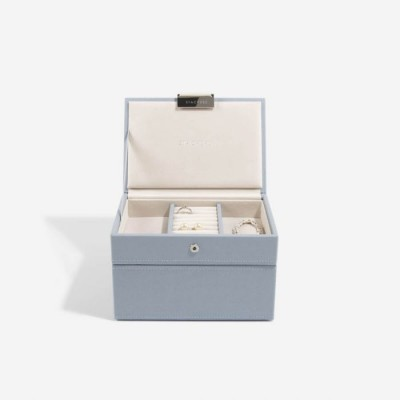 DUSKY BLUE MINI JEWELLERY BOX