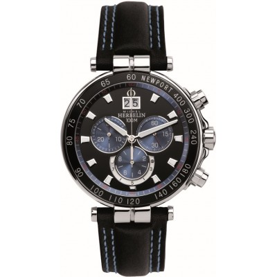 Mens Stainless Steel Newport Yacht Club