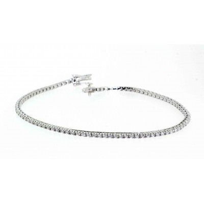 FINE ROUND BRILLIANT CUT DIAMOND TENNIS BRACELET