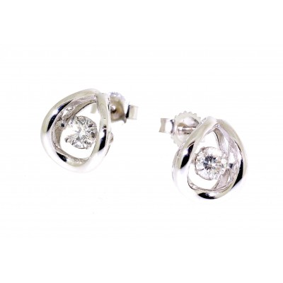 Floating Diamond Stud Earrings