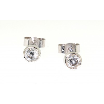 Rim Set Diamond Stud Earrings