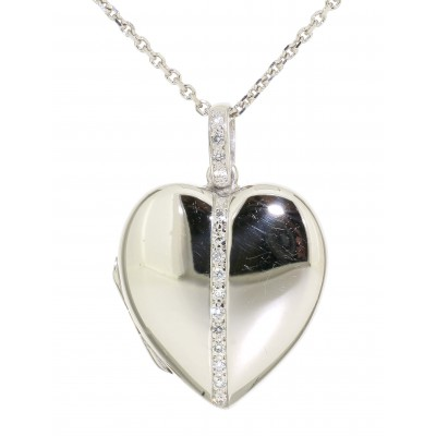 DIAMOND SET HEART SHAPED LOCKET