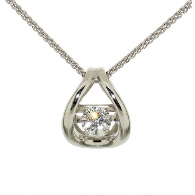 FLOATING ROUND BRILLIANT CUT DIAMOND NECKLACE